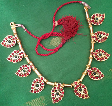 Kuchipudi Bharatanatyam Short Necklace - SN2218