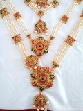Multi Color Stones Dance Jewelry Set Kuchipudi Bharatanatyam STNSET803