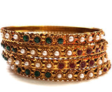 Imitation Fancy Bangle - Multi Color Pearl Bangle