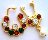 Multi Color Nose Ring Nathbullaku Big Size