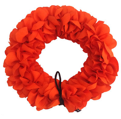 orange flowers, synthetic cloth flowers, flowers for hair