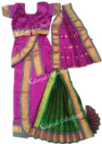 Readymade Kuchipudi Costume - Purple and Green
