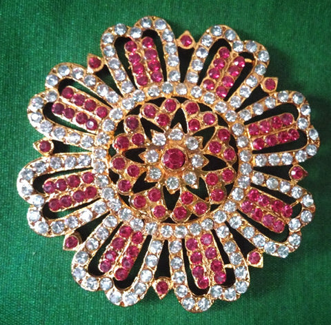 Rakudi White and Ruby Pink Stones - RK13