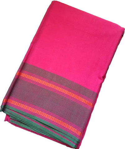 Dance Practice Saree - Rudraksha Design Pink Saree