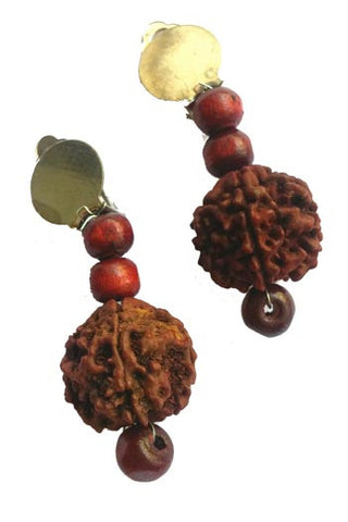 Rudraksha Earrings Kundals