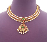 Kuchipudi Bharatanatyam Short Necklace - SN2201