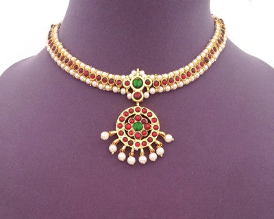 Kuchipudi Bharatanatyam Short Necklace - SN2206