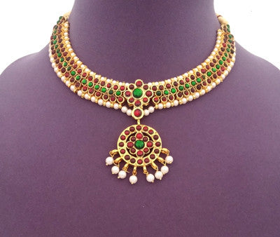 Kuchipudi Bharatanatyam Short Necklace - SN2207