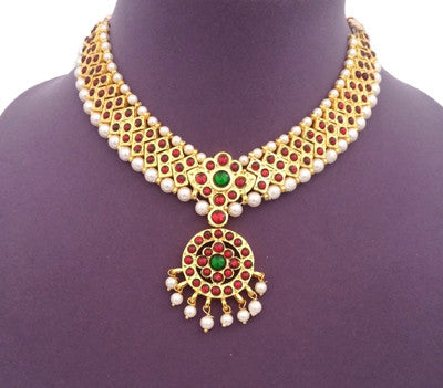 Kuchipudi Bharatanatyam Short Necklace - SN2208