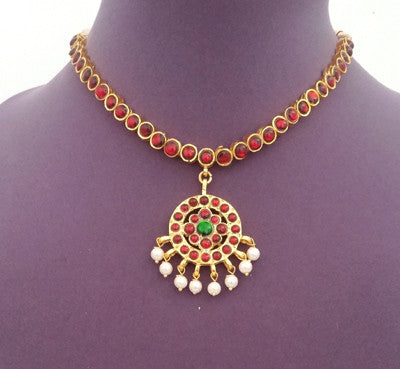 Kuchipudi Bharatanatyam Short Necklace - SN2209