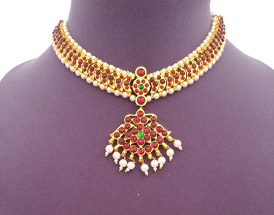 Kuchipudi Bharatanatyam Short Necklace - SN2210