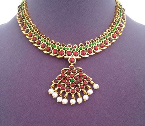 Kuchipudi Bharatanatyam Short Necklace - SN2211