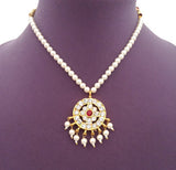 Kuchipudi Bharatanatyam Short Necklace - SN2214
