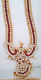 Red Stones Temple Dance Jewelry Kuchipudi Bharatanatyam STNSET817