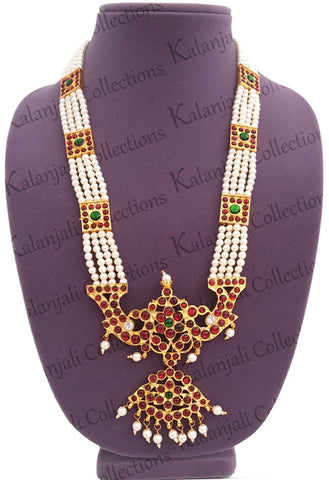 4 Line neckalce/haaram is suitable for Bharatanatyam as well as Kuchipudi dance
