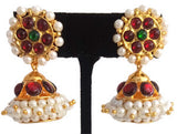 Lightweight Pearl Kempu Jhumki Earrings - JMK2504