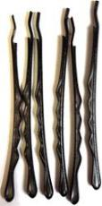 Flat Head Black Hairgrip Bobby Pins - 3 pairs
