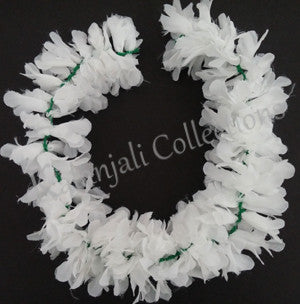 Synthetic Cloth White Flower Stream- 1'