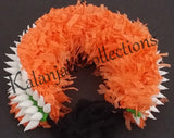 Plastic White and Orange Hair Band