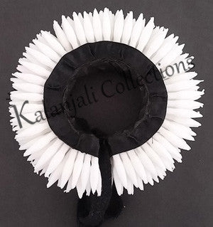 Plastic White Flower Hair Band