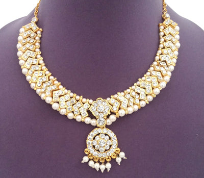 Kuchipudi Bharatanatyam Short Necklace - SN2215