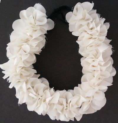 white cloth veni, synthetic white cloth flowers