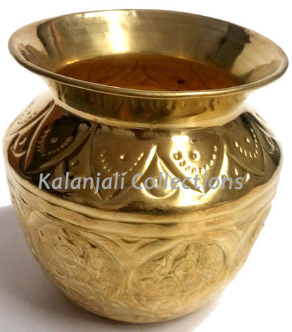 Ashta Lakshmi Brass Lota for Kuchipudi Dance, Pooja