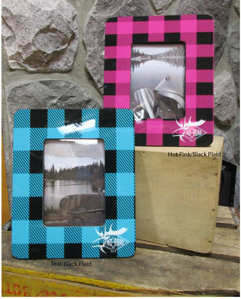 End of the Road Plaid Picture Frame
