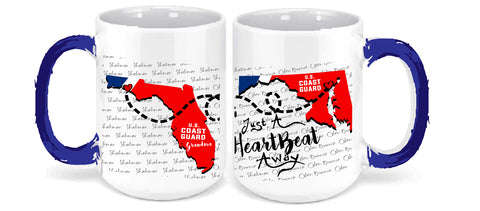 Personalized Coffee Mug - Coast Guard - 15 Ounce Coffee Cup