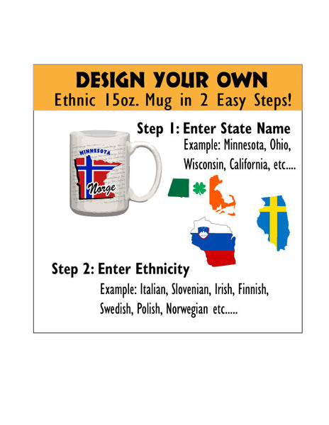 Personalized Coffee Mug - Ethnic - 15 Ounce Coffee Cup