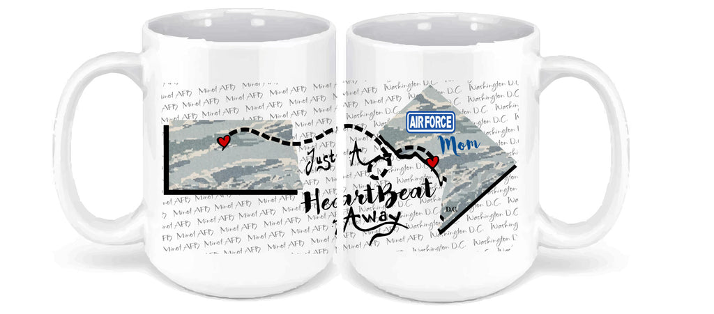 Personalized Coffee Mug - Airforce - 15 Ounce Coffee Cup