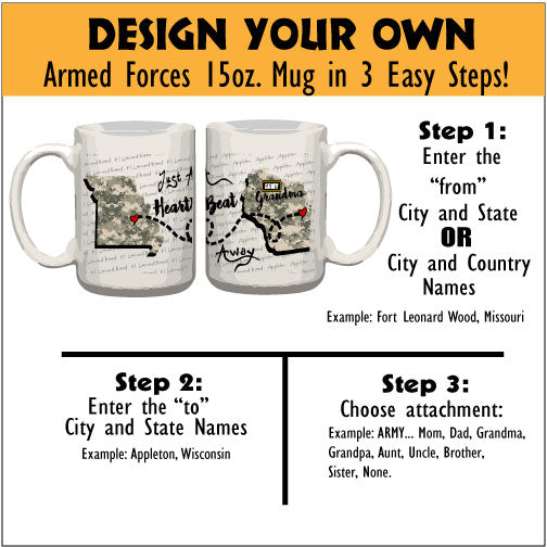 Personalized Coffee Mug - Army - 15 Ounce Coffee Cup
