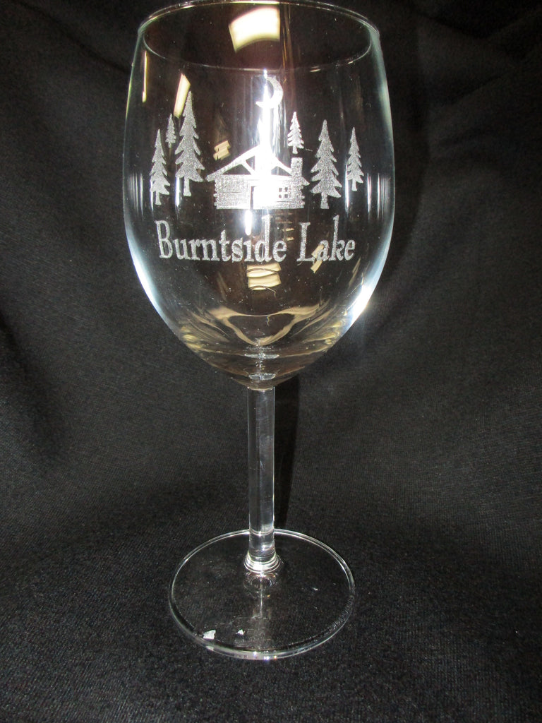Lake Wine Glass