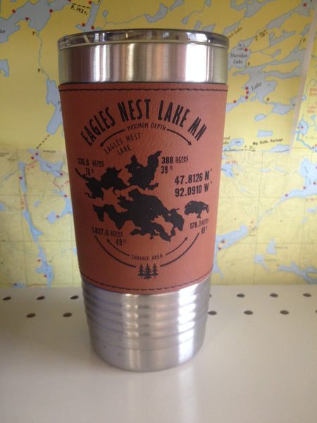 Leatherette Polar Camel Tumbler with Clear Lid