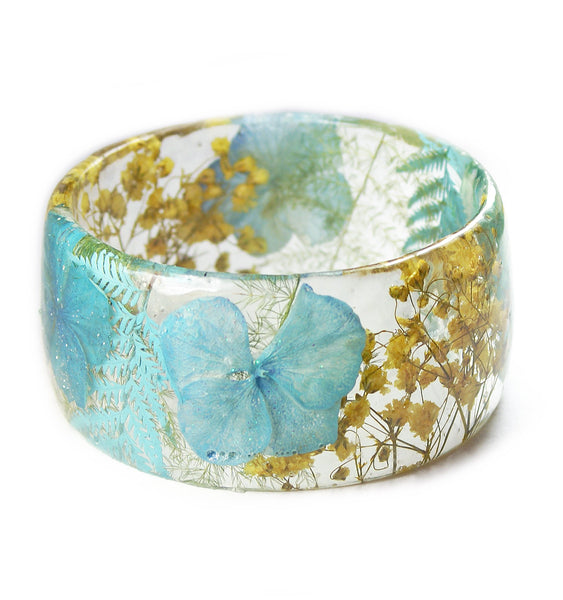 Blue and Yellow Floral Bracelet