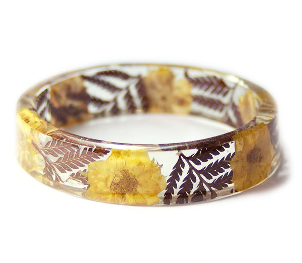 Yellow Roses and Ferns Bracelet