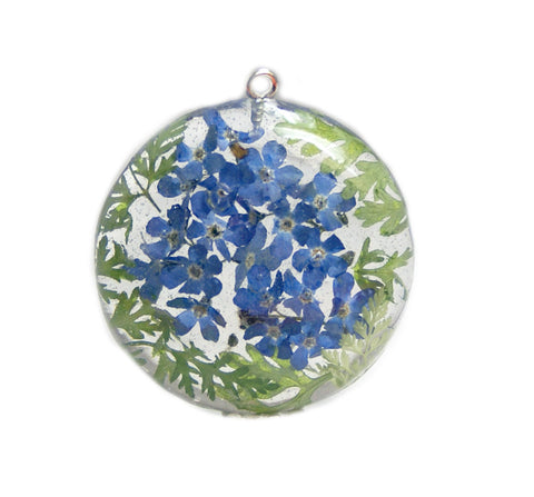 Forget Me Not Flowers Pendant