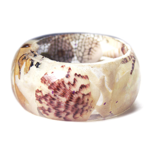 Wide Seashell Bracelet