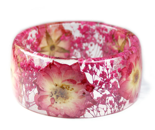 Pink and Yellow Rose Bracelet