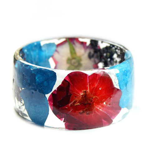Turquoise and Red Rose Bracelet