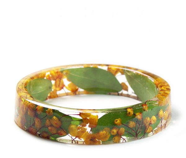 Orange Flower Vine Bracelet