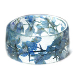 Blue Larkspur Flower Bracelet