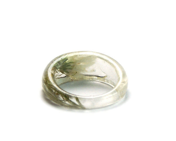 Wedding Flower and Fern Ring