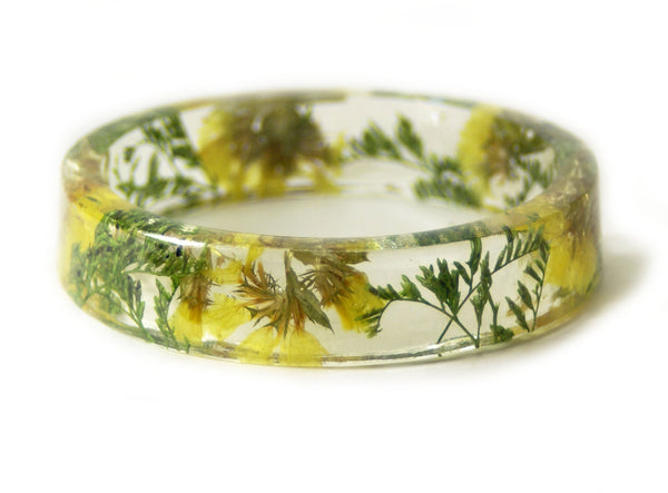 Springtime Yellow and Green Flower Bracelet