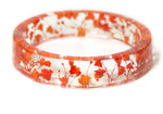 Red and Orange Dried Flower Bracelet