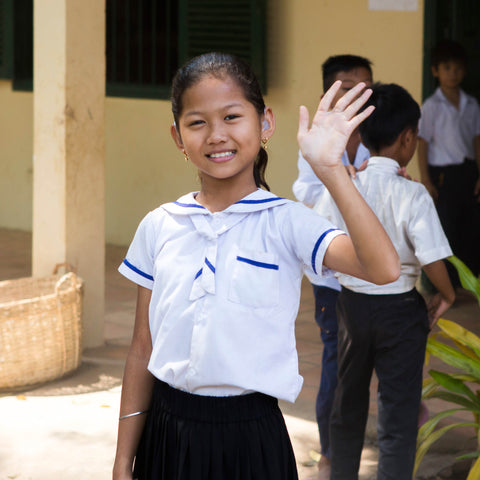 Mandatory school uniforms for 12 children in Cambodia