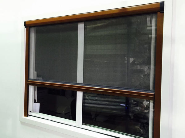 Retractable window fly screen online and diy for Pull down fly screen for doors
