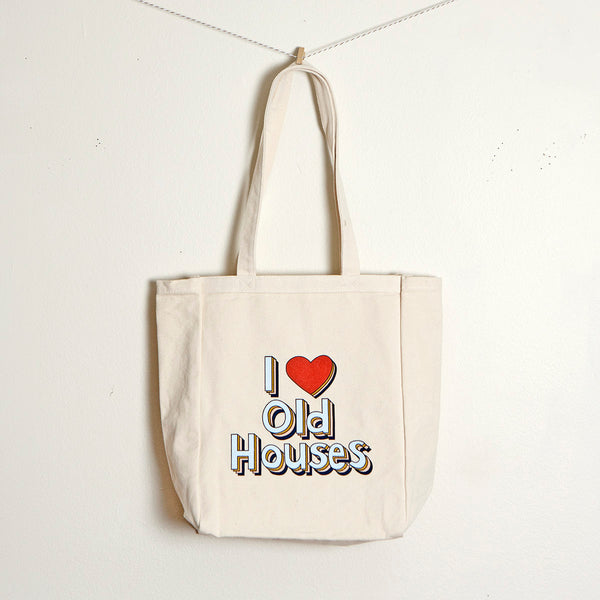 """I Love Old Houses"" Book Tote"