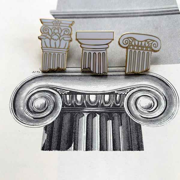 Classical Columns Enamel Pin Pack