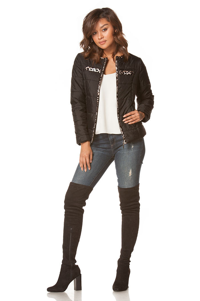 Jessica Puffer Jacket In Black, Jackets & Vests - shoptoni.com